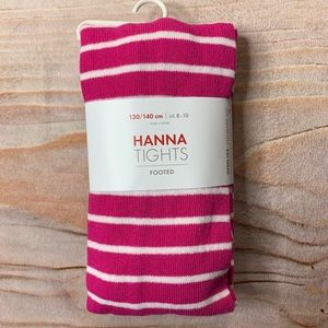NWT Hanna Andersson Pink Stripe Tights